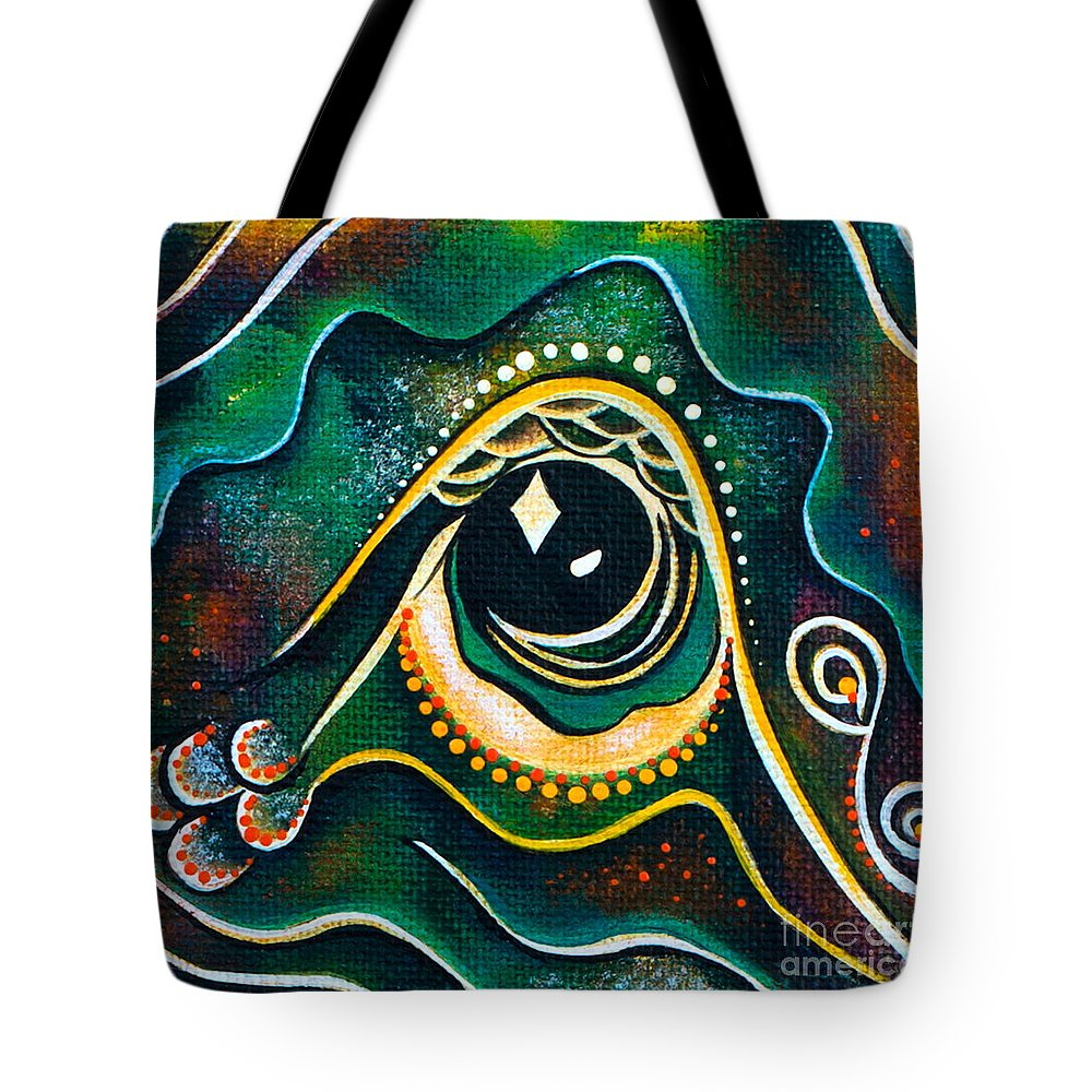 Third Eye Painting Tote Bag featuring the painting Optimist Spirit Eye by Deborha Kerr