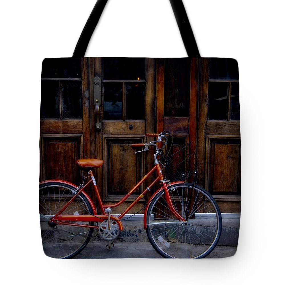 Orange Tote Bag featuring the photograph Orange Bike by Garry Gay