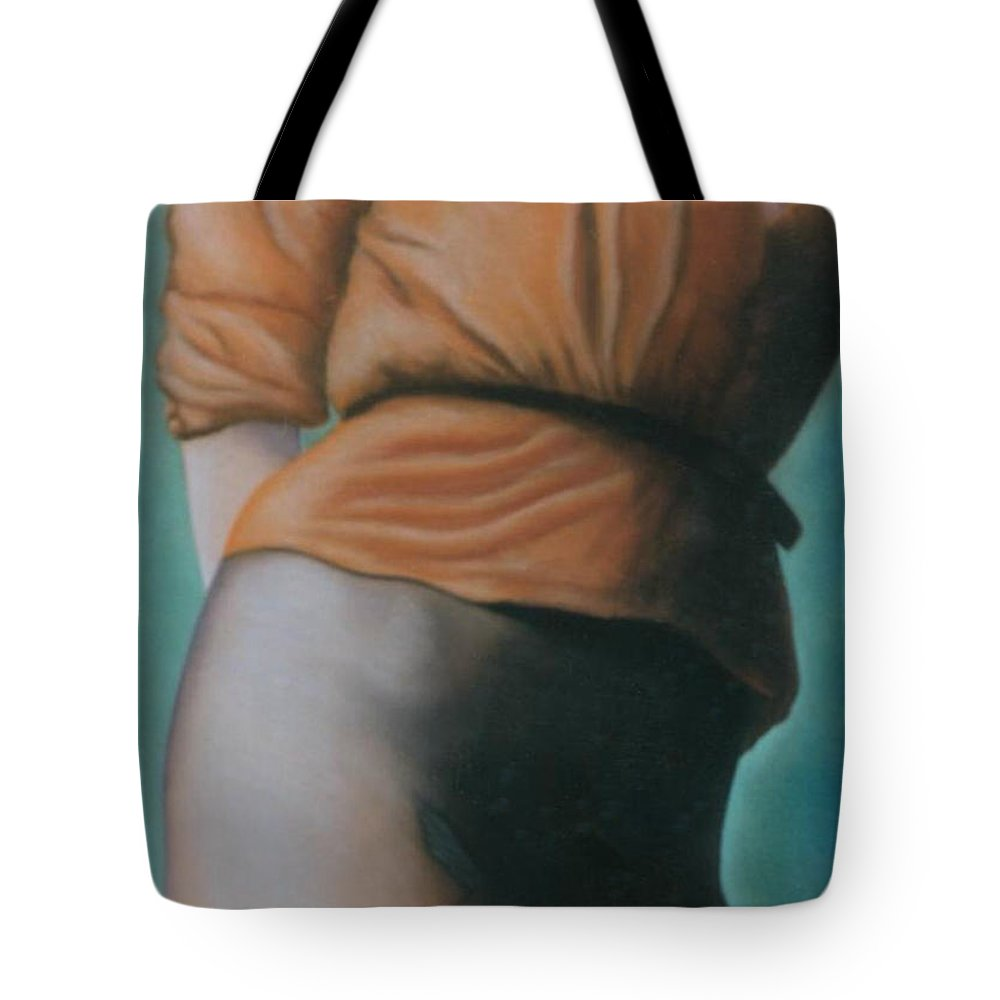 Sensual Tote Bag featuring the pastel Orange Blouse by Mary Ann Leitch
