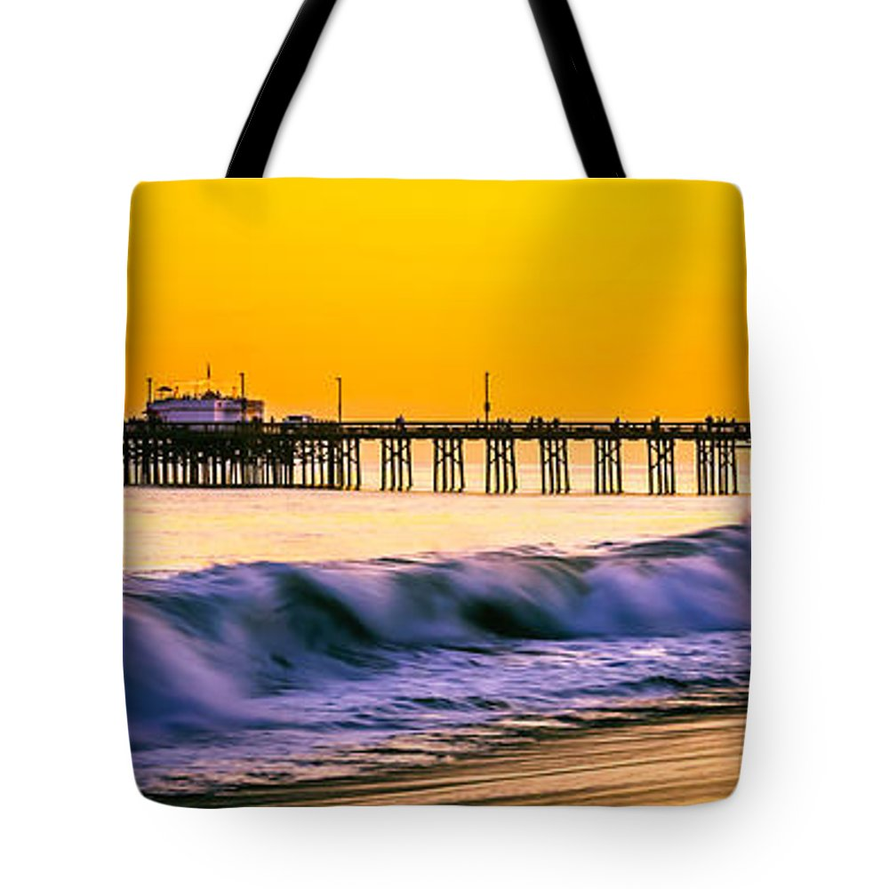 America Tote Bag featuring the photograph Orange County Panoramic Sunset Picture by Paul Velgos