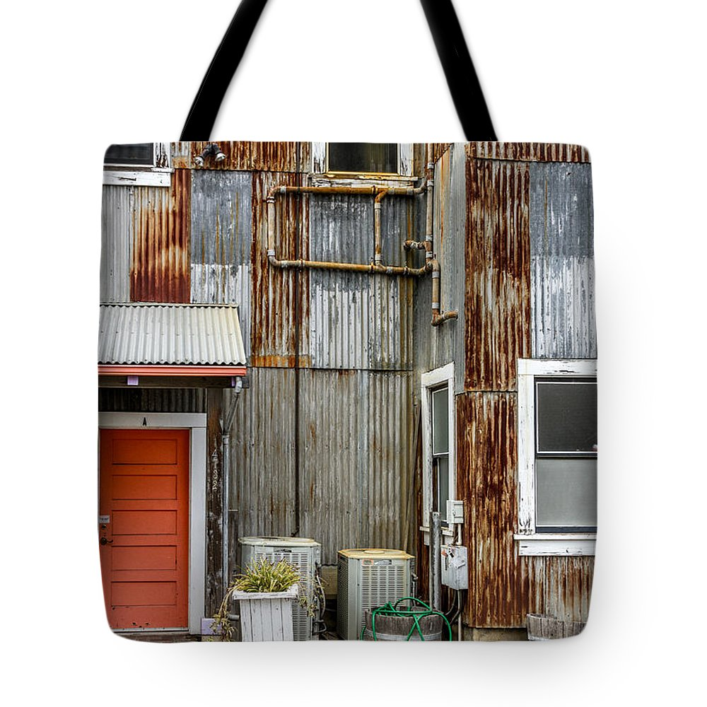 Outdoor Tote Bag featuring the photograph Orange Door by Bill Gallagher