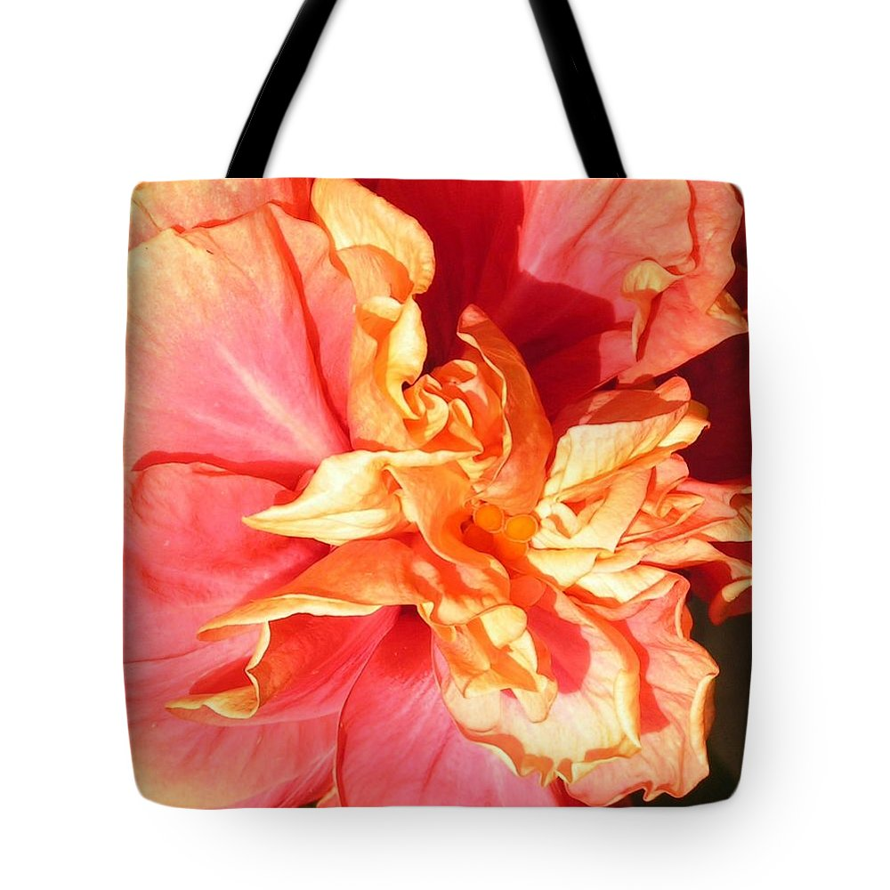 Flower Tote Bag featuring the photograph Orange Glow by Annika Farmer