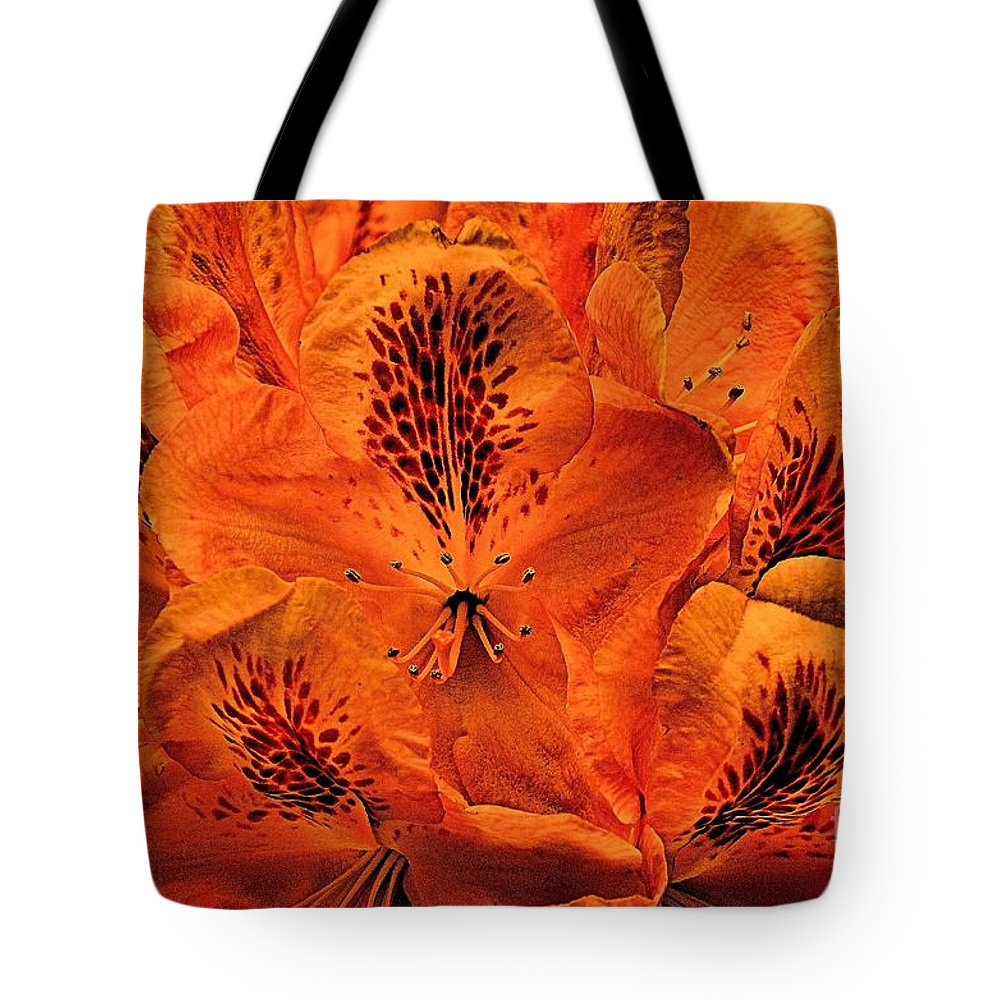 Bstract Tote Bag featuring the photograph Orange Is In by Lauren Leigh Hunter Fine Art Photography