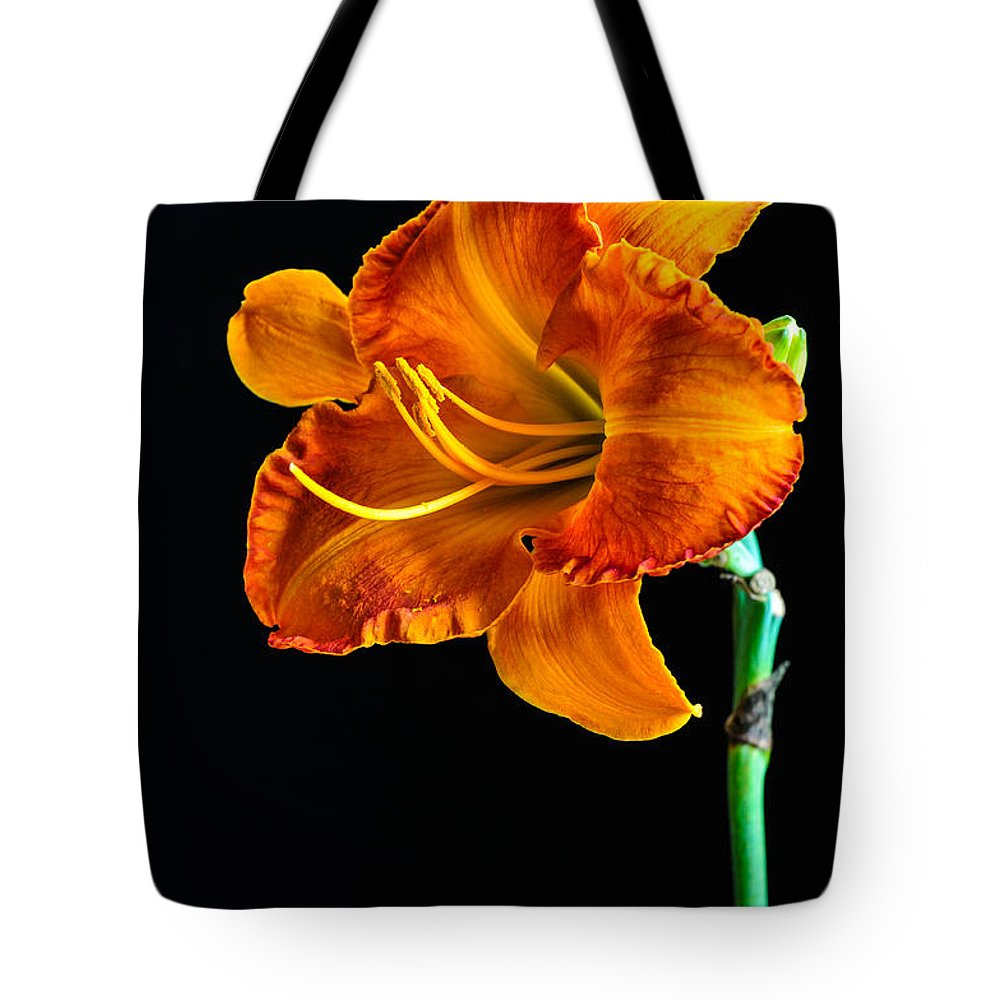 Lily Tote Bag featuring the photograph Orange Lily by Randy Walton