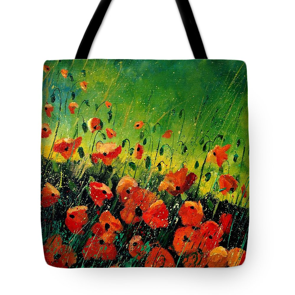 Poppies Tote Bag featuring the painting Orange Poppies by Pol Ledent
