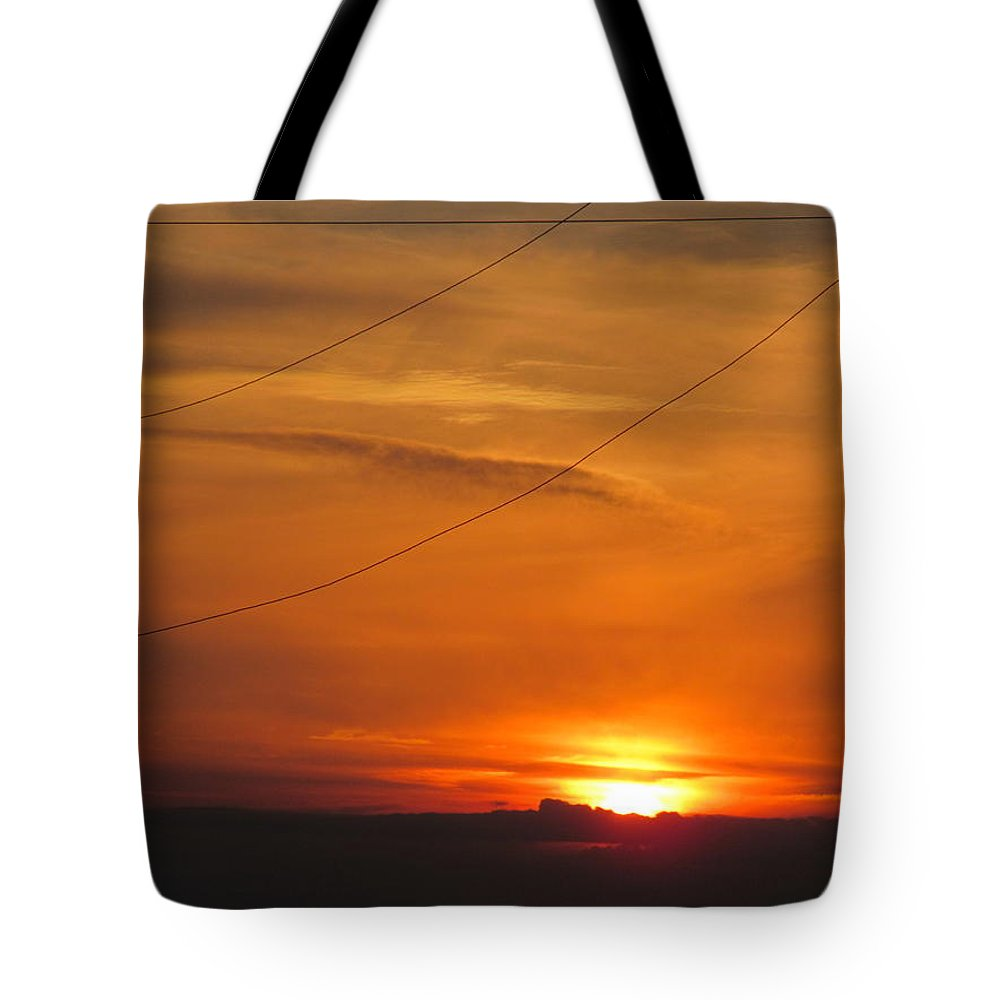 Sun Tote Bag featuring the photograph Orange Sunset by Tina M Wenger