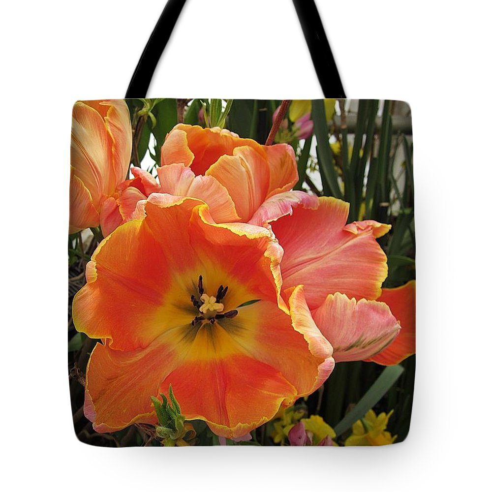 Tote Bag featuring the photograph Orange Tulips by MTBobbins Photography