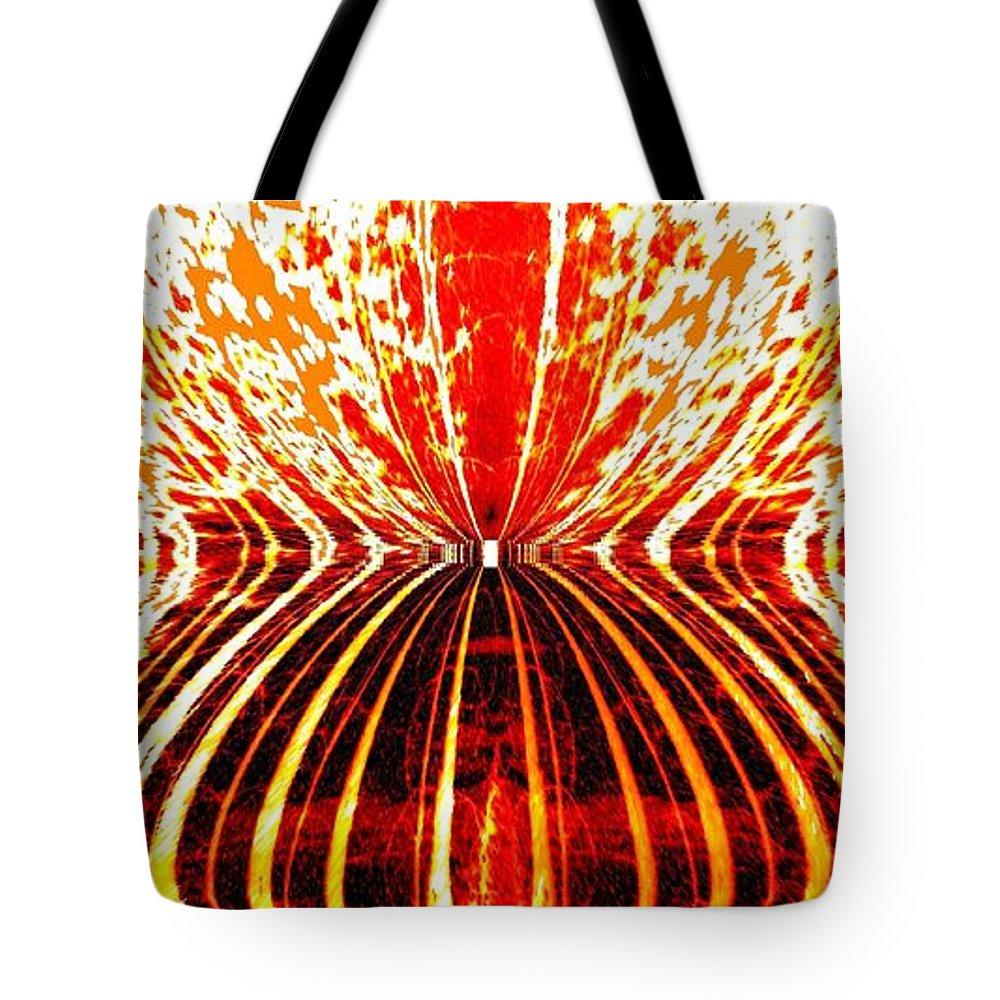 Orange Zest Tote Bag featuring the digital art Orange Zest by Will Borden