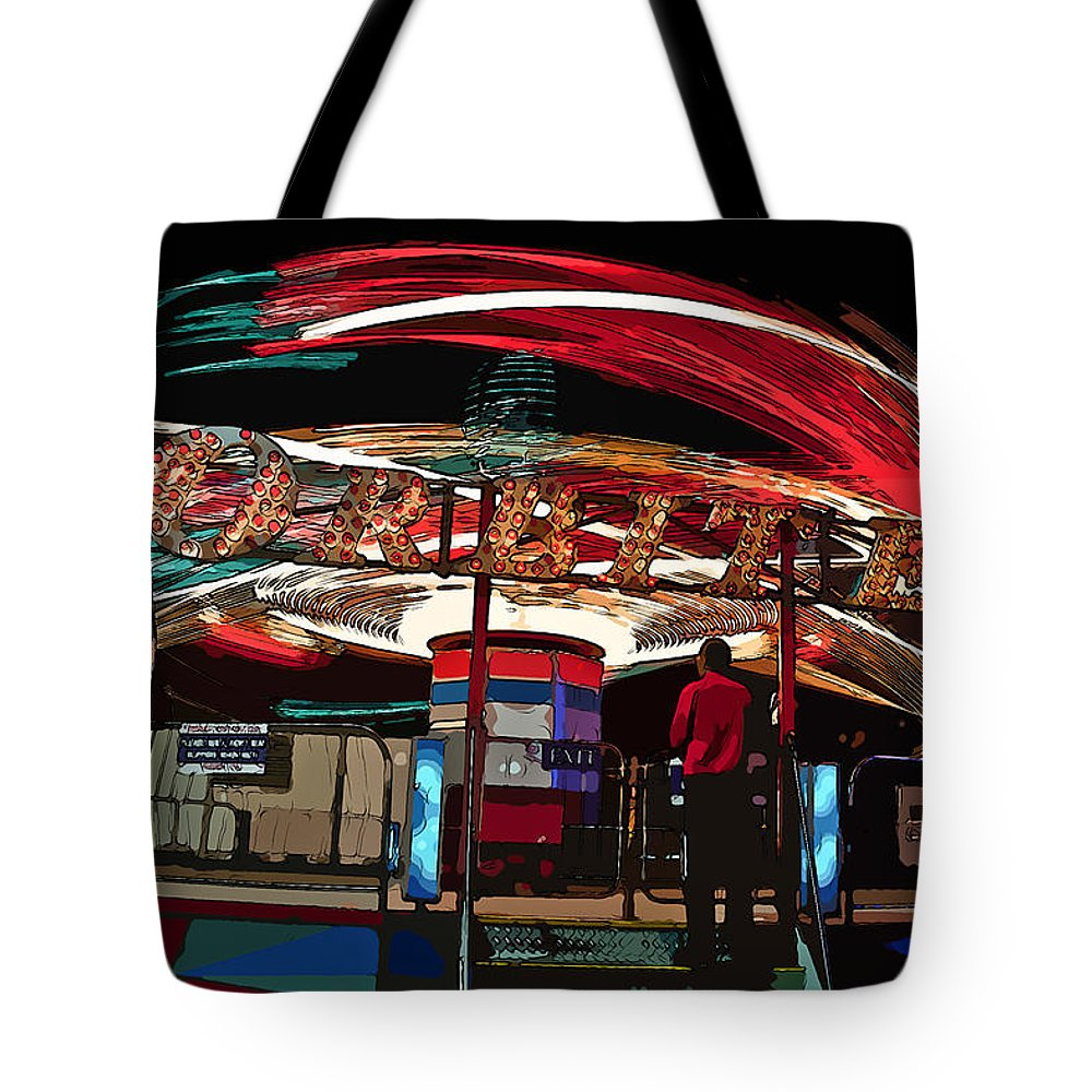 Orbiter Tote Bag featuring the photograph Orbiter Operator by Randy Walton