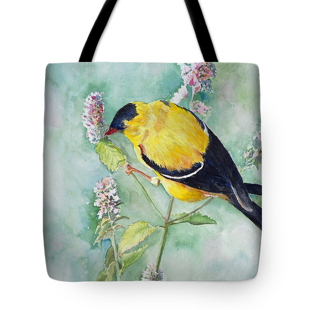 Bird Tote Bag featuring the painting Orchard Oriole by Christine Lathrop