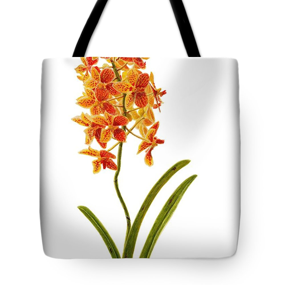 Orchid Tote Bag featuring the painting Orchid 2 by Richard Harpum