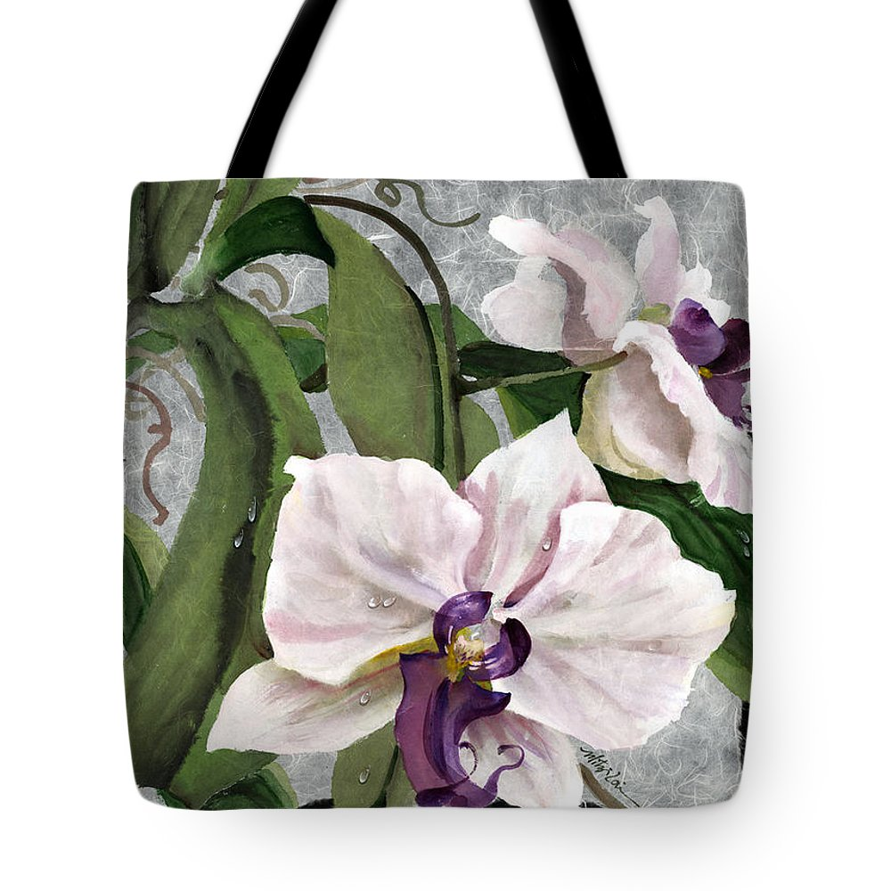 Orchid Tote Bag featuring the painting Orchid A - Phalaenopsis by Mitzi Lai