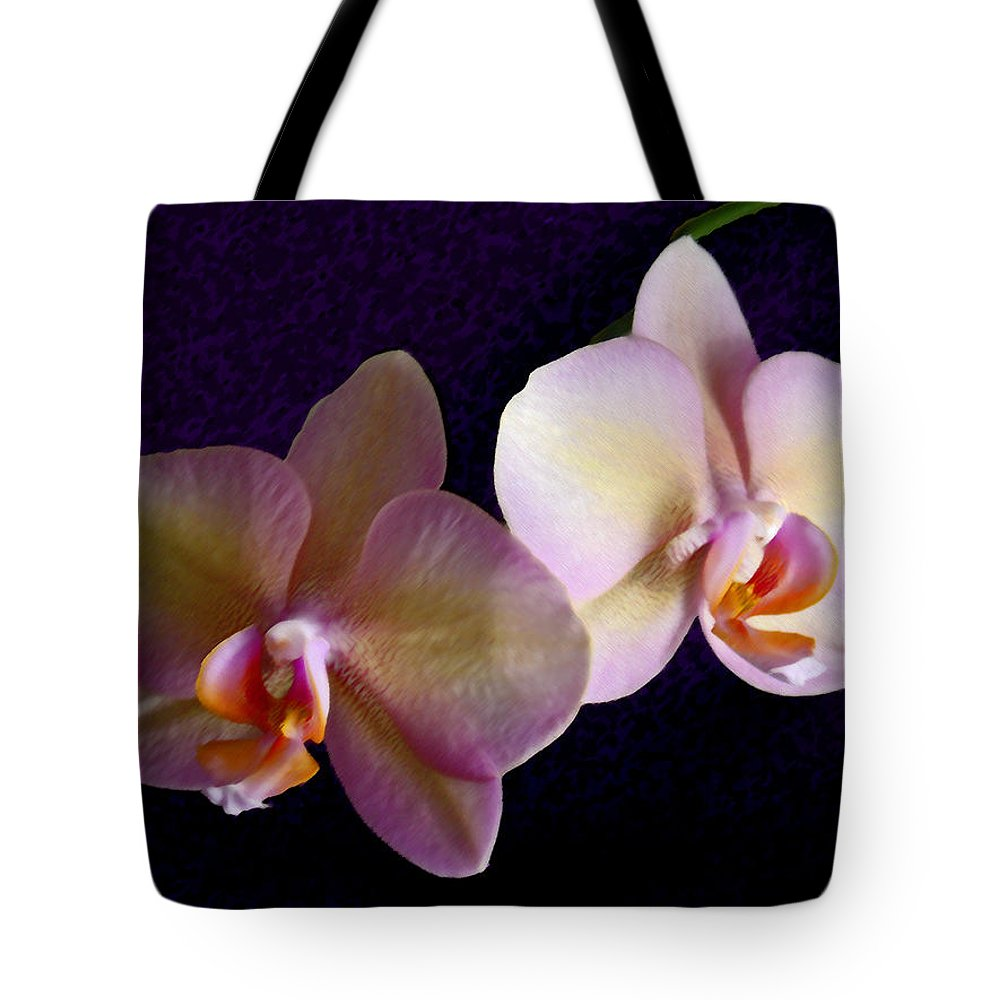 Orchid Tote Bag featuring the photograph Orchid Light by Steve Karol