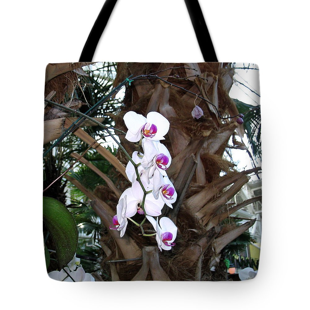 Orchids Tote Bag featuring the photograph Orchids In The Opryland Hotel In Nashville Tennessee by Marian Bell