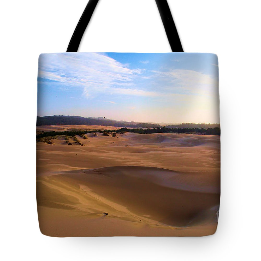 Oregon Dunes Tote Bag featuring the photograph Oregon Dunes Landscape by Adam Jewell