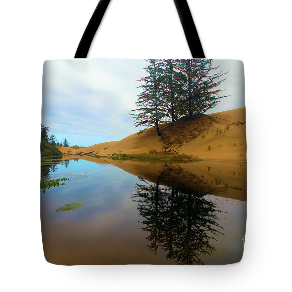 Oregon Dunes Tote Bag featuring the photograph Oregon Dunes Pond by Adam Jewell