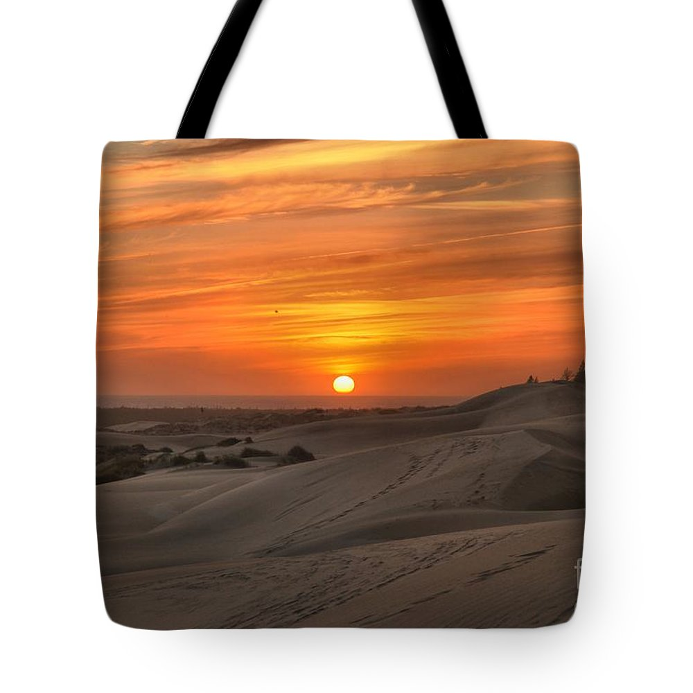 Oregon Dunes Tote Bag featuring the photograph Oregon Dunes Sunset by Adam Jewell