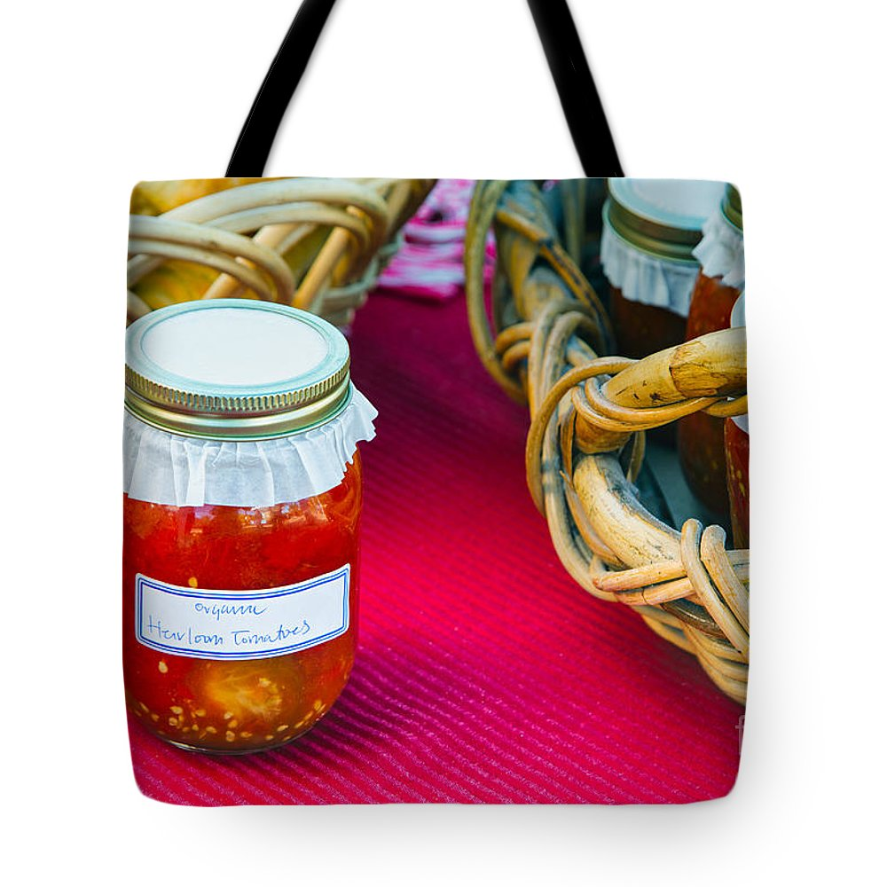 Tomatoes Tote Bag featuring the photograph Organic Goodness by Mary Smyth