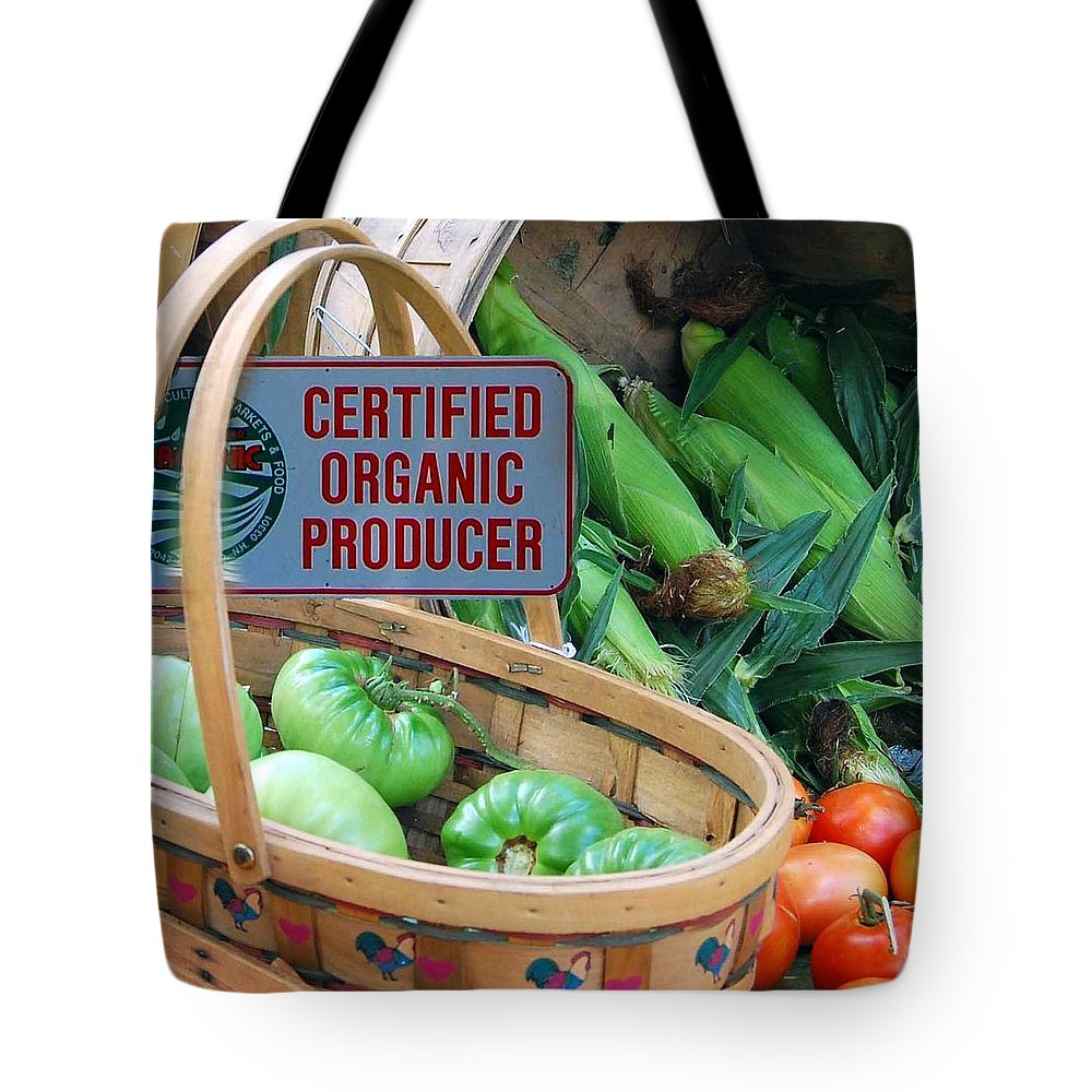 Certified Organic Tote Bag featuring the photograph Organic by Mim White