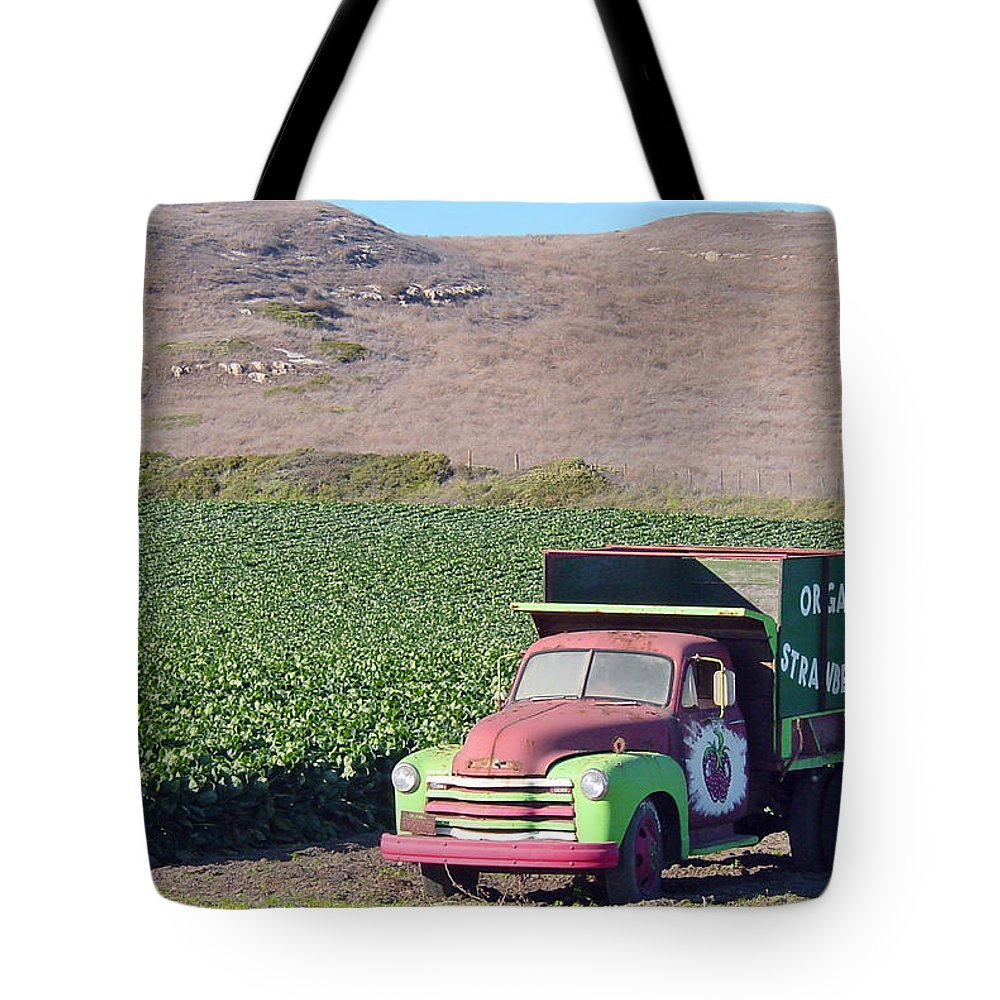 Organic Strawberries Tote Bag featuring the photograph Organic Strawberries by Suzanne Gaff