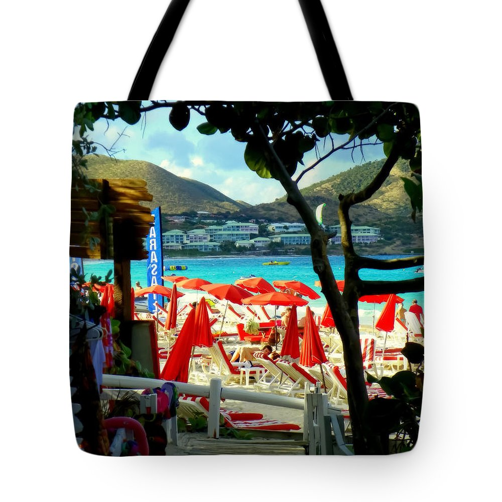 Beaches Tote Bag featuring the photograph Orient Beach Peek by Karen Wiles