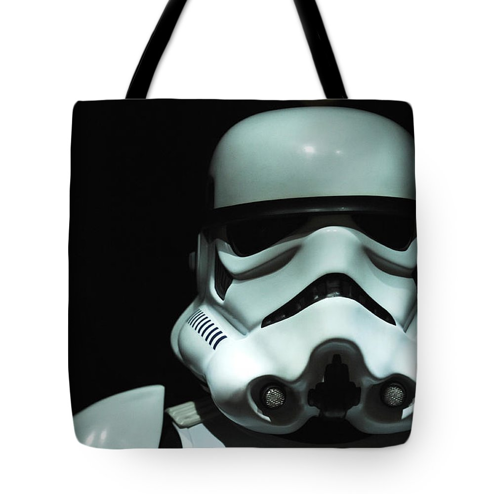 Stormtrooper Tote Bag featuring the photograph Original Stormtrooper by Micah May
