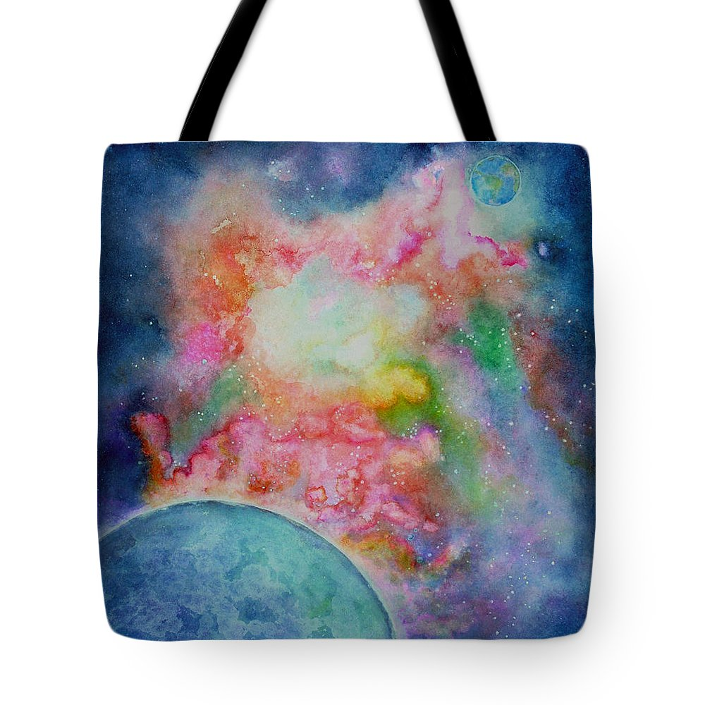 Nebula Tote Bag featuring the painting Orion Nebula by Janet Immordino
