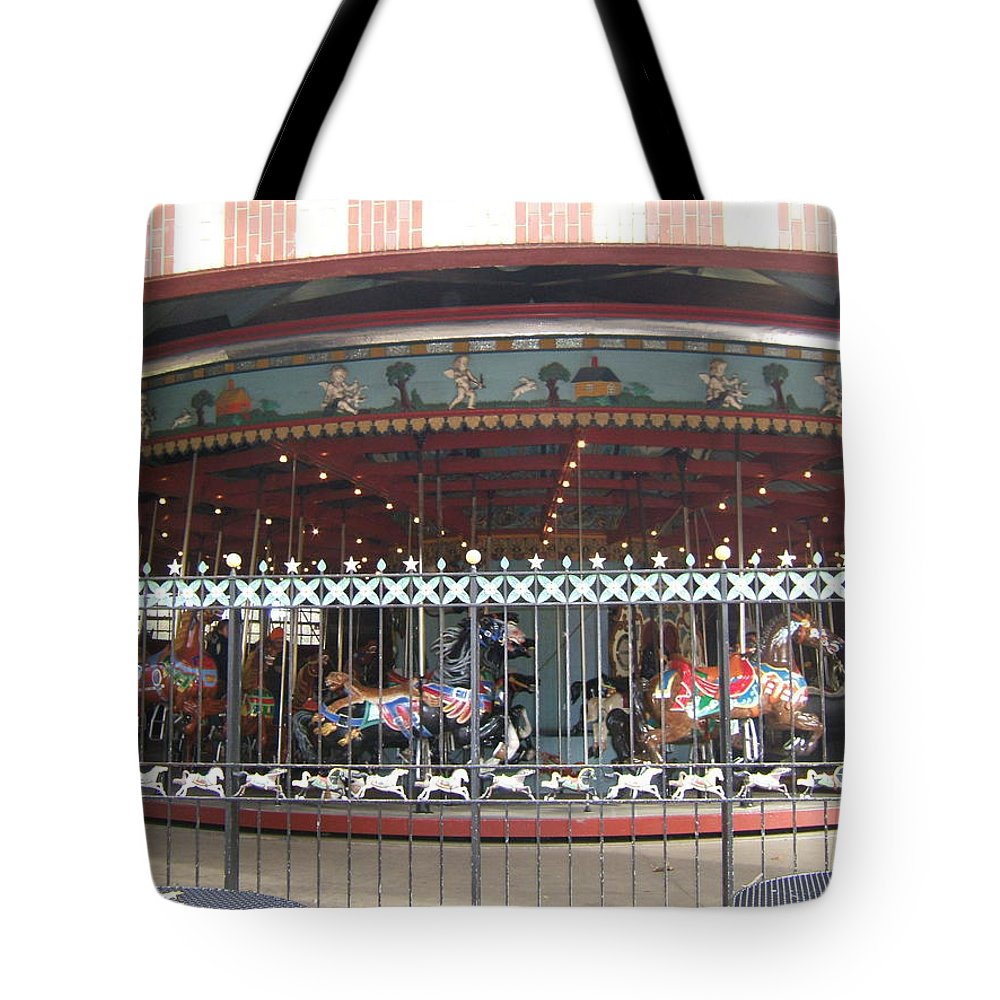 Wrought Iron Fence Tote Bag featuring the photograph Ornamental Fence by Barbara McDevitt