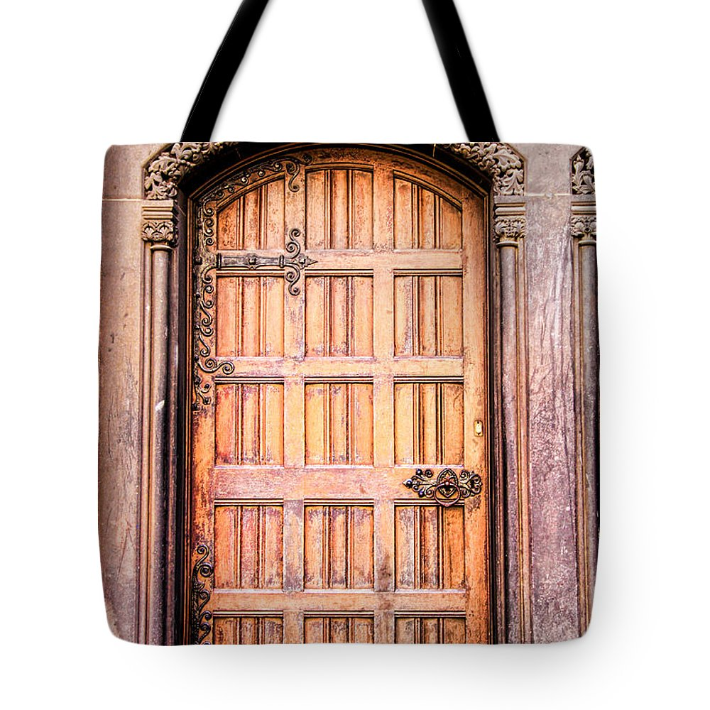 Door Tote Bag featuring the photograph Ornate Door by Jim Pruett
