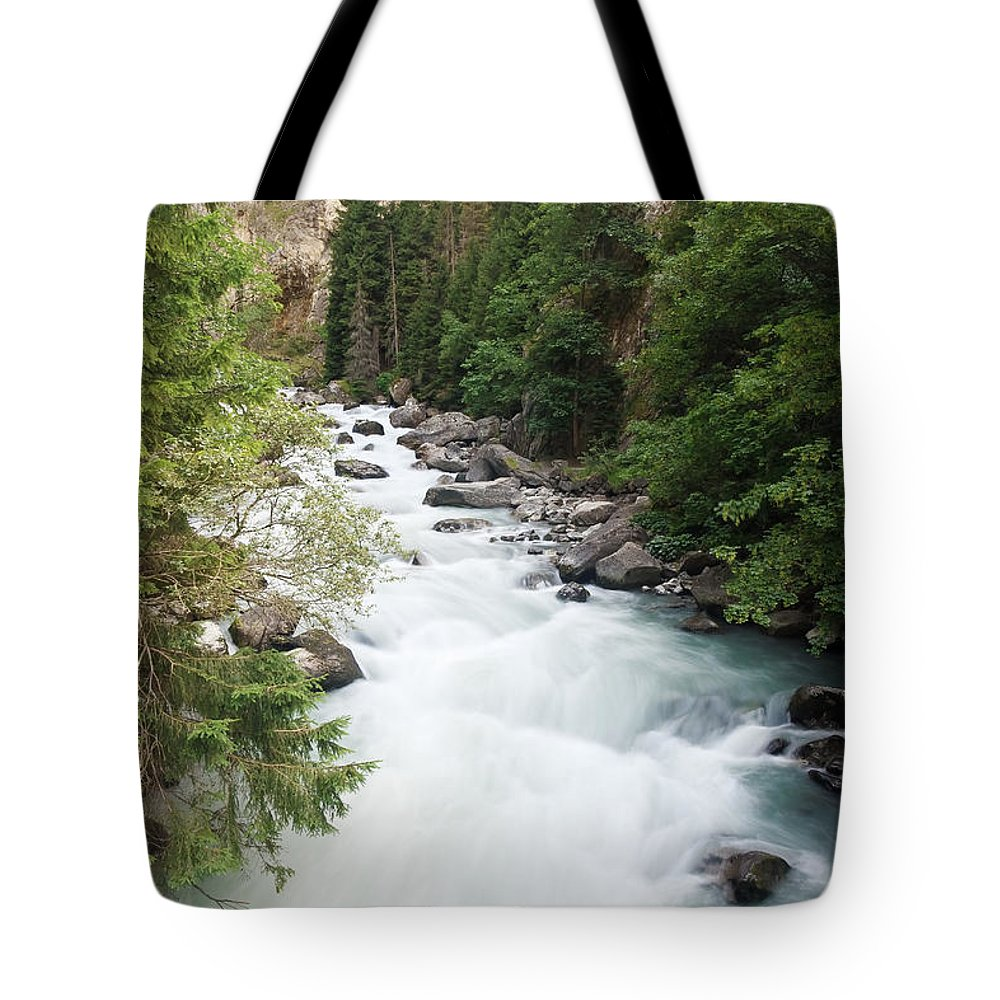 Alps Tote Bag featuring the photograph Orrido - Dora Stream by Antonio Scarpi