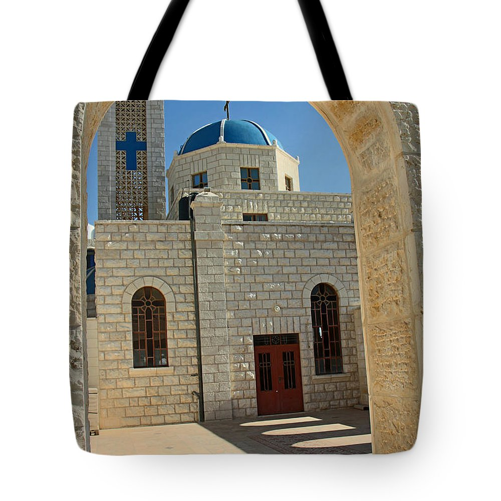 Orthodox Tote Bag featuring the photograph Orthodox Church Entrance by Munir Alawi