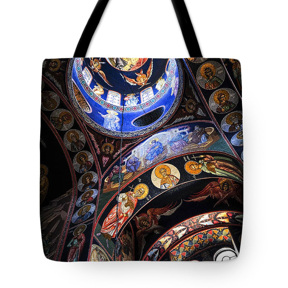 Mosaic Tote Bag featuring the photograph Orthodox Church Interior by Elena Elisseeva