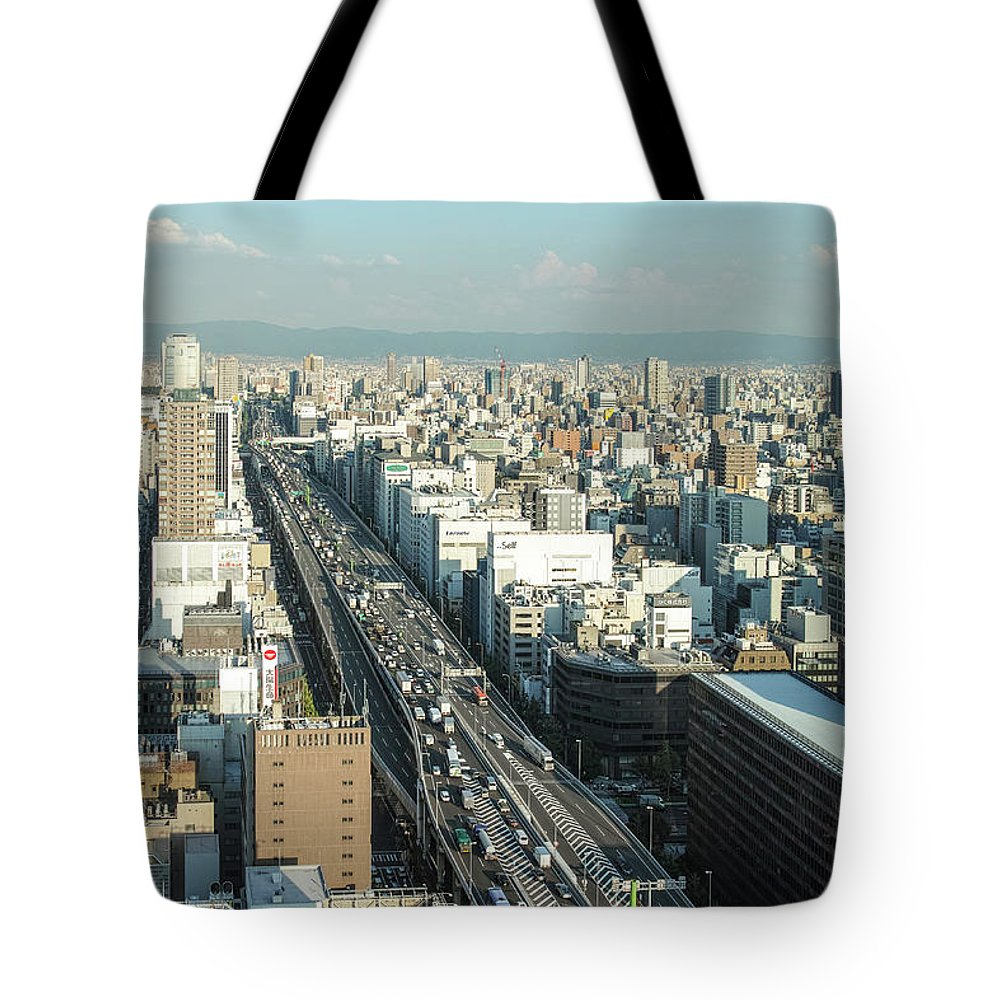 Osaka Prefecture Tote Bag featuring the photograph Osaka Cityscape by I Love Photo And Apple.