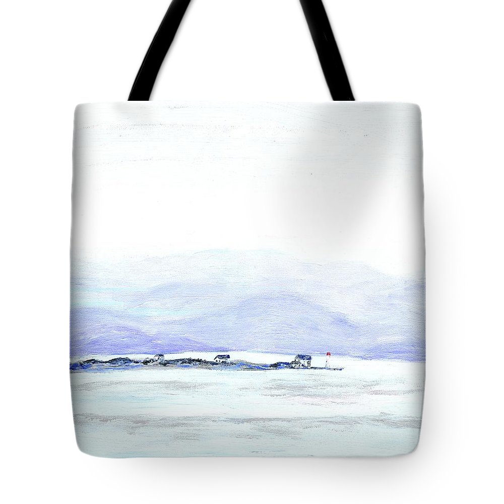 Seascape Tote Bag featuring the painting Oslo Mist by Alice Faber
