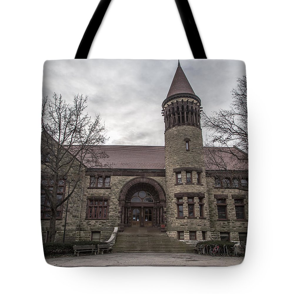Ohio State University Tote Bag featuring the photograph Osu Orton Hall by John McGraw