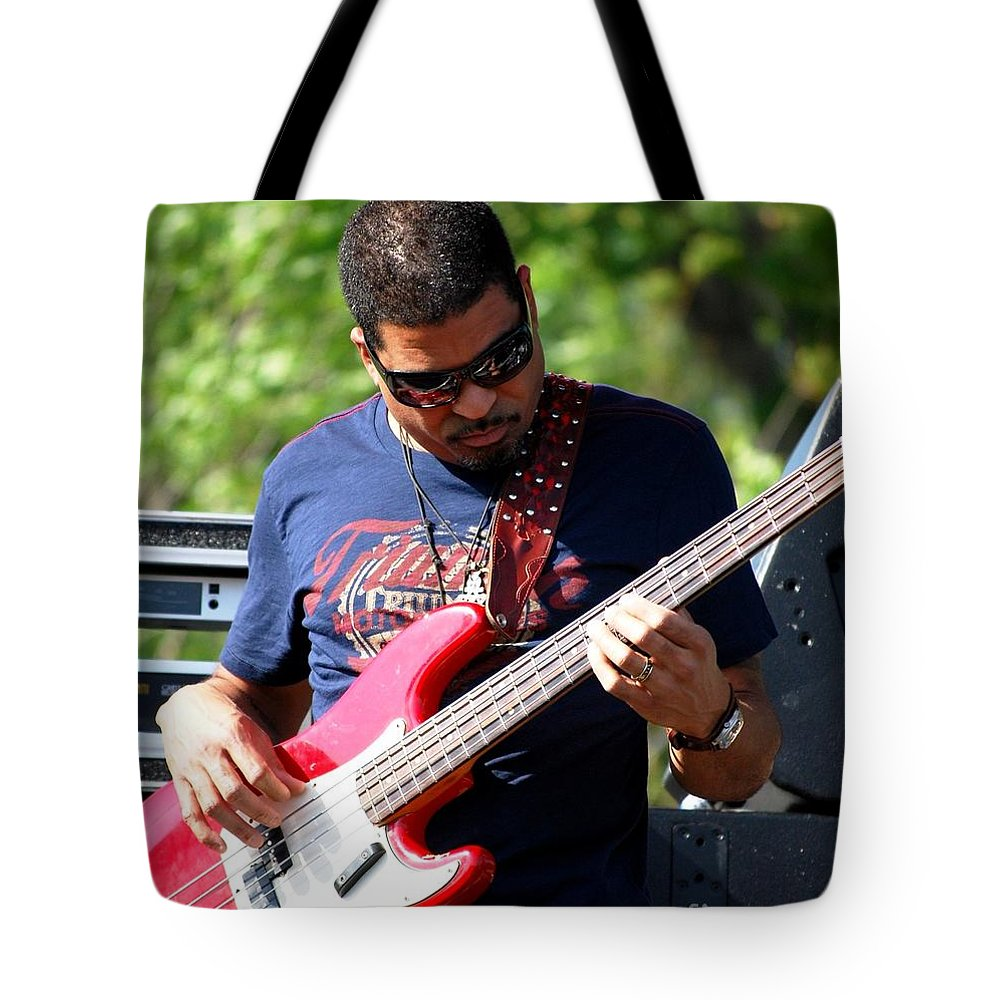 Music Tote Bag featuring the photograph Oteil Burbridge by Angela Murray