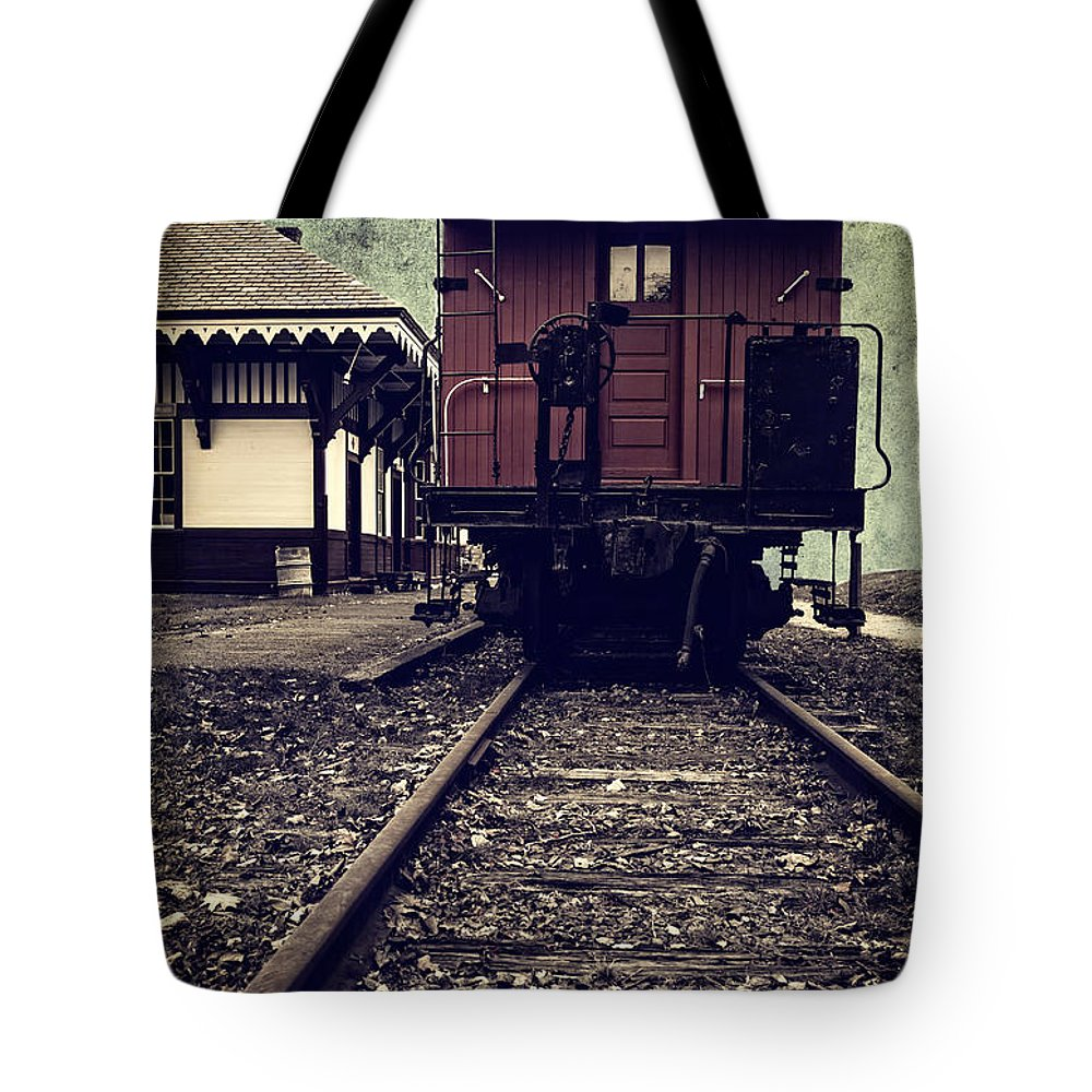 Night Tote Bag featuring the photograph Other Side Of The Tracks by Edward Fielding