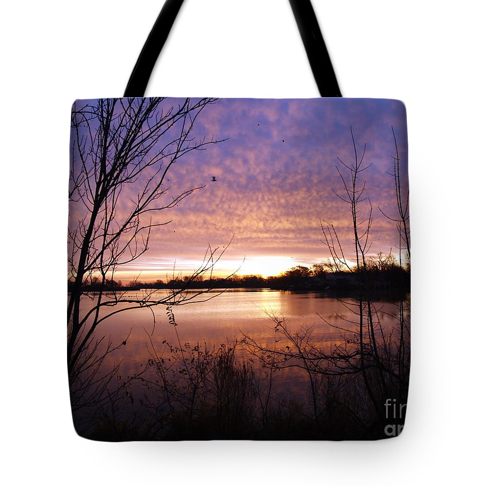Point Place Tote Bag featuring the photograph Ottawa River Sunrise by Melissa McDole
