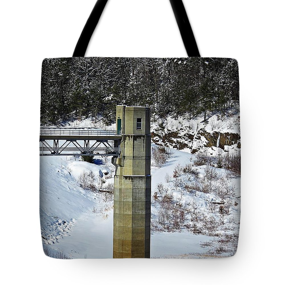 Otter Brook Dam Tote Bag featuring the photograph Otter Brook Dam by MTBobbins Photography