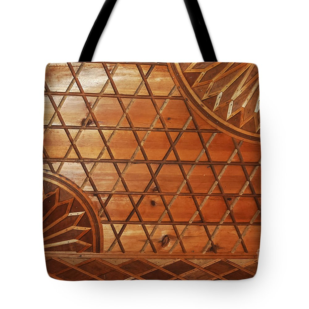 Sipahioğlu Konak Sipahioglu Ottoman Museum House Houses Interior Building Buildings Structures Ottoman Architecture Yoruk Village Safranbolu Turkey Odds And Ends Tote Bag featuring the photograph Ottoman House Wood Ceiling by Bob Phillips