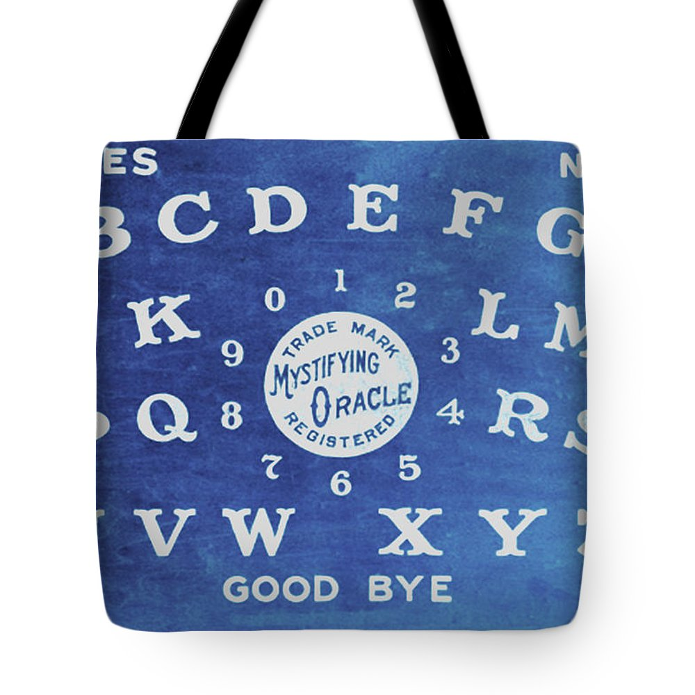 Ouija Tote Bag featuring the painting Ouija Board 4 by Tony Rubino