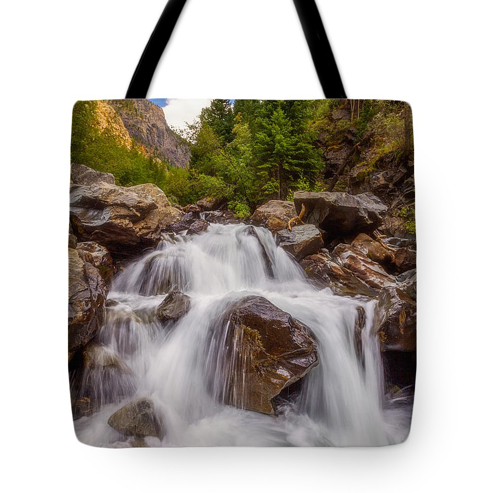 Waterfall Tote Bag featuring the photograph Ouray Wilderness by Darren White