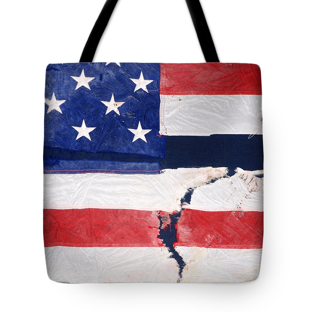 Flags Tote Bag featuring the photograph Out Of The Rubble September 11 2001 by John Schneider