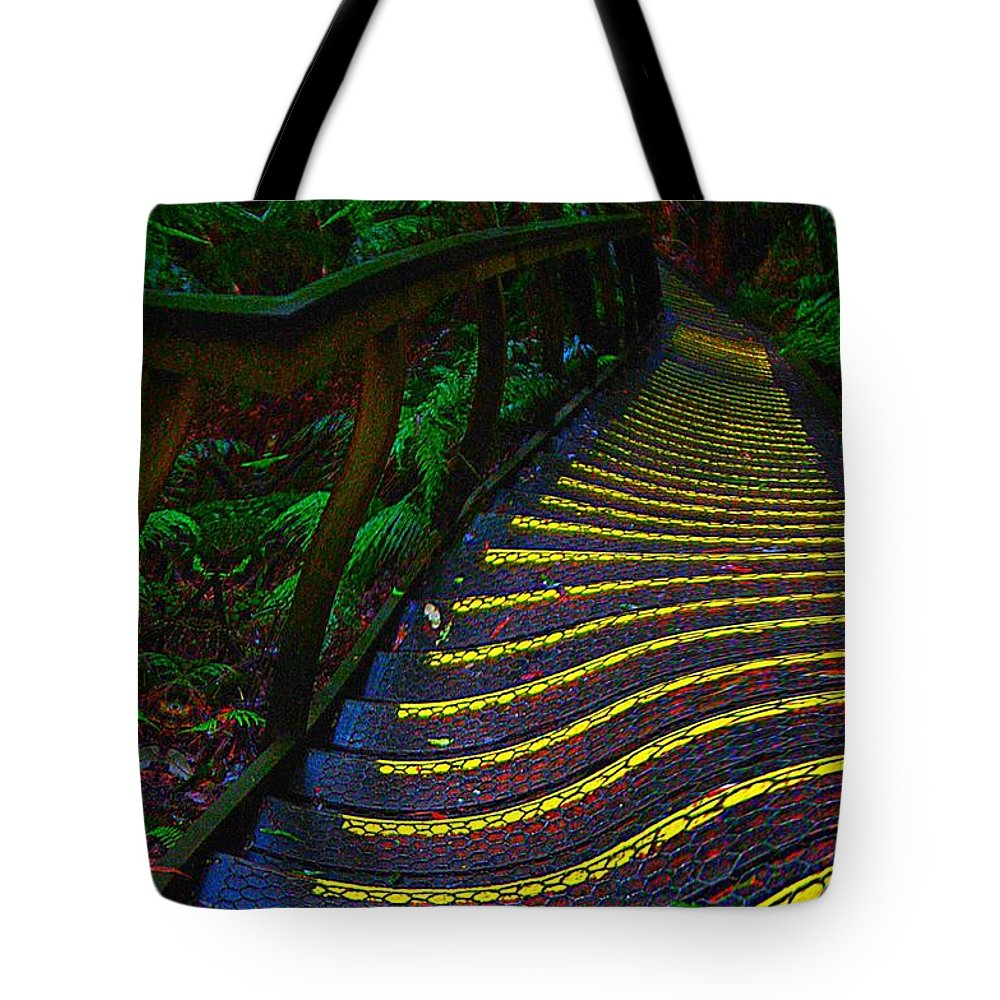Abstract Tote Bag featuring the digital art Out There by Blair Stuart