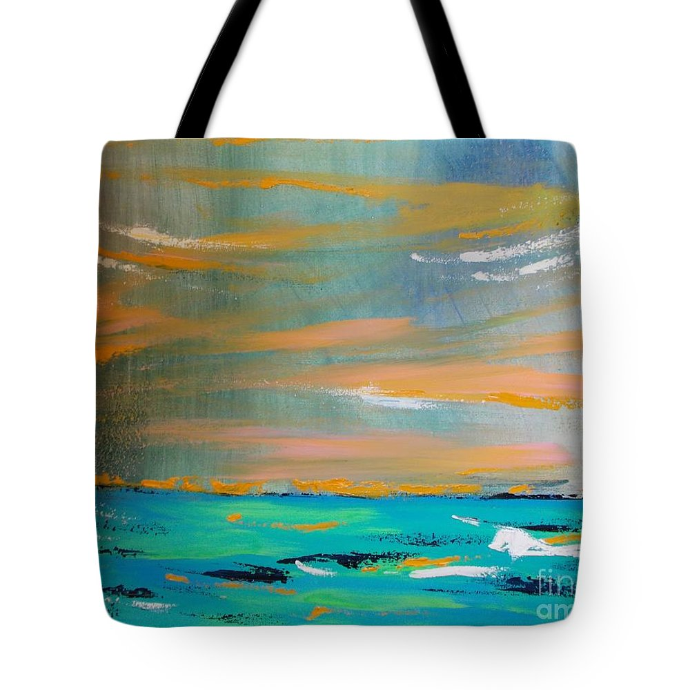 Siberia Tote Bag featuring the painting Out There by PainterArtist FIN