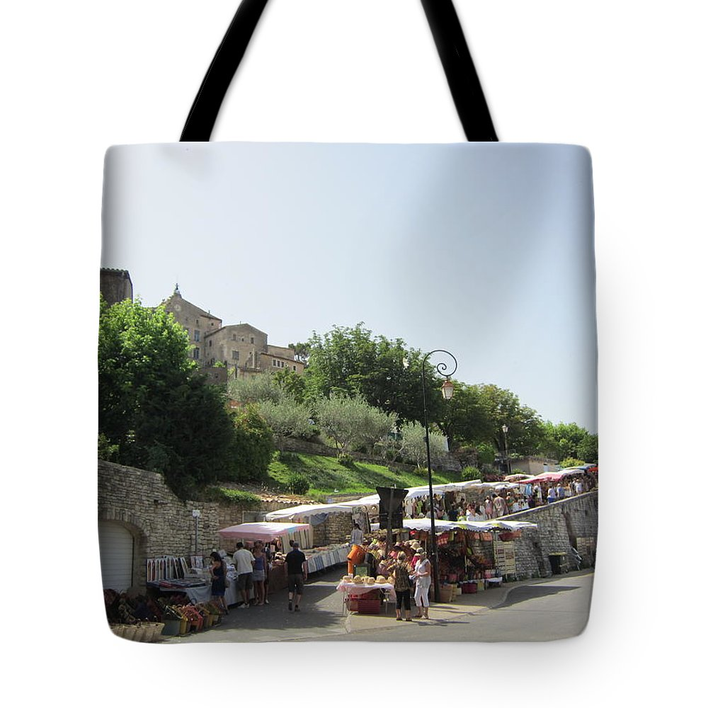 Outdoor Market Tote Bag featuring the photograph Outdoor Village Market by Pema Hou