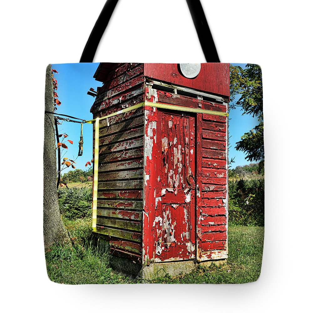 Outhouse Tote Bag featuring the photograph Outhouse 9 by Paul Ward