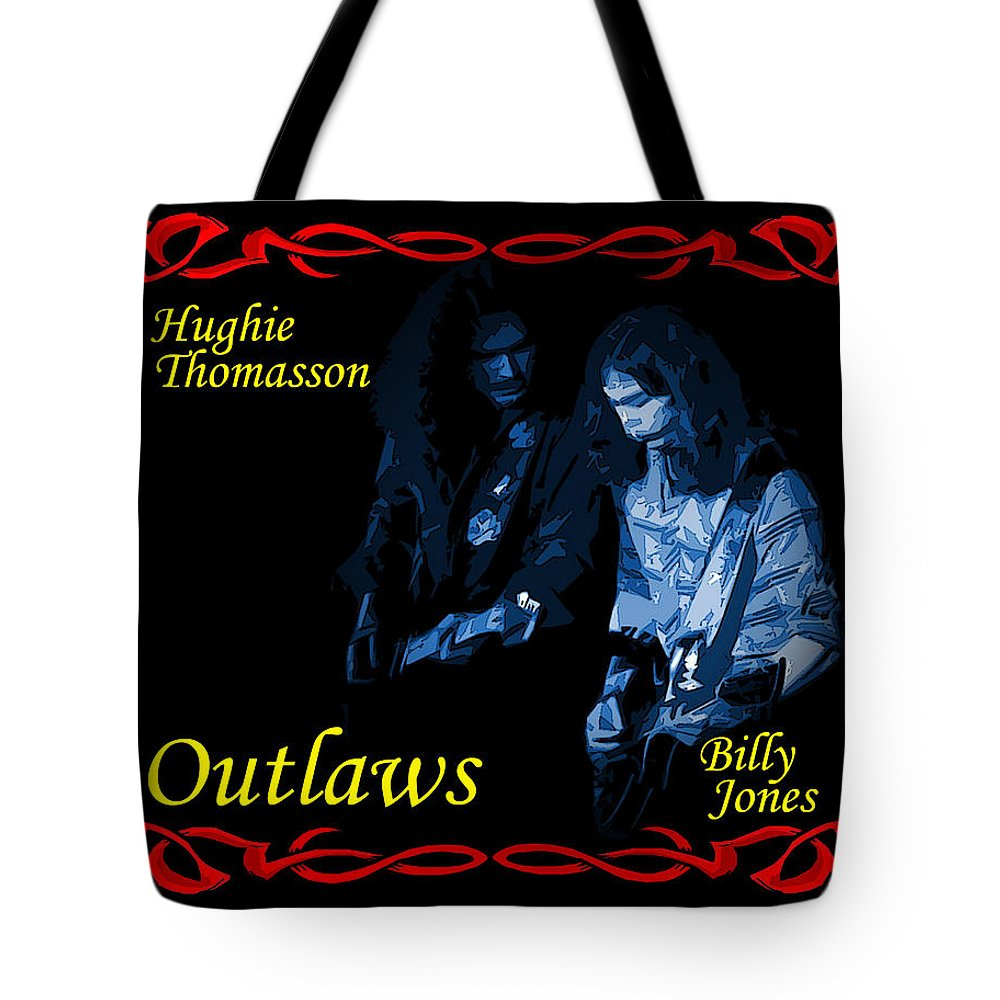 Outlaws Tote Bag featuring the photograph Outlaws Billy Jones And Hughie Thomasson by Ben Upham