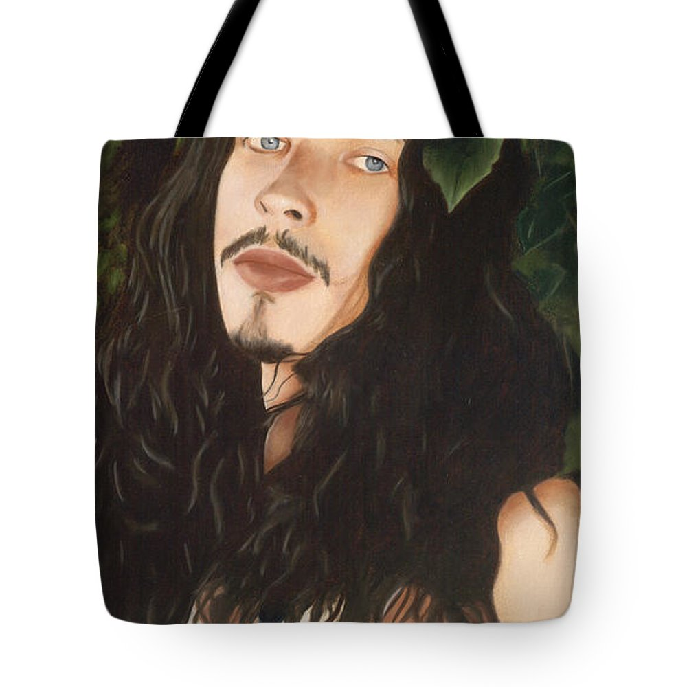 Chris Cornell Tote Bag featuring the painting Outshined by Jena Rockwood