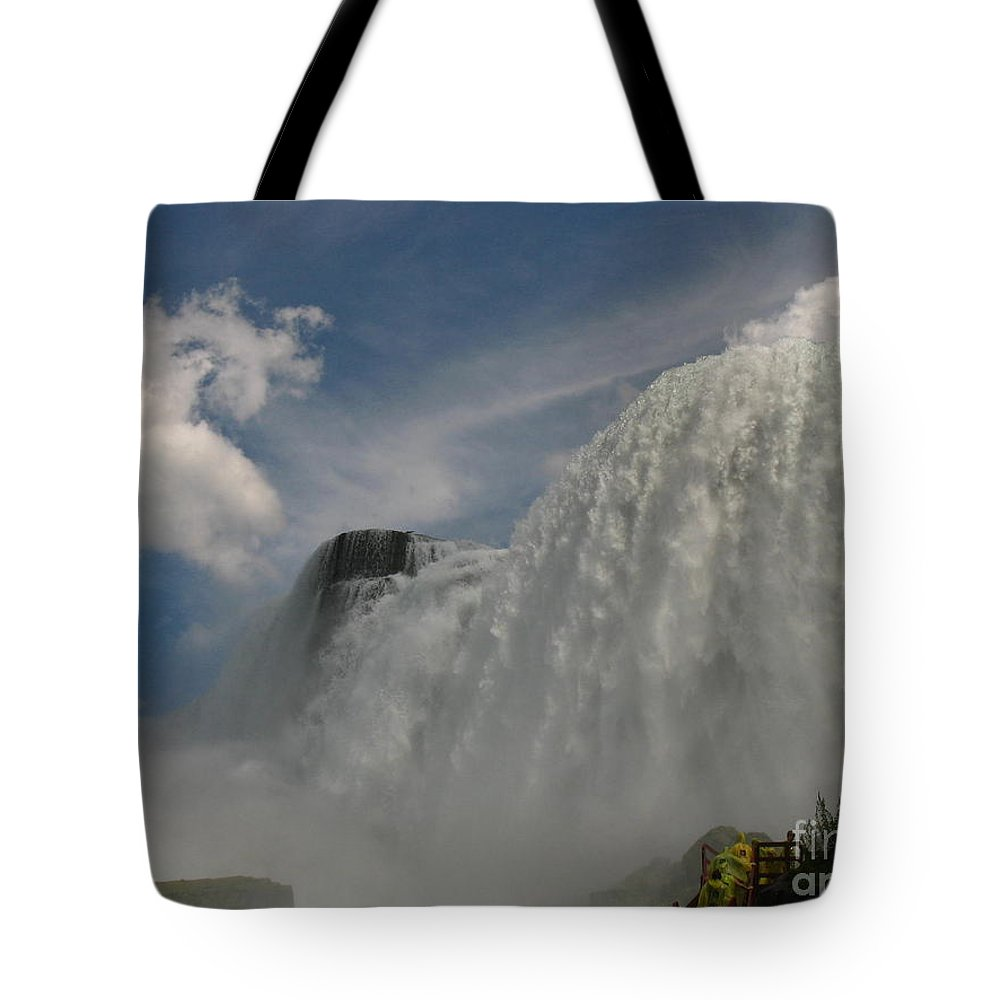 Waterfalls Tote Bag featuring the photograph Over Here Now by Jeffery L Bowers
